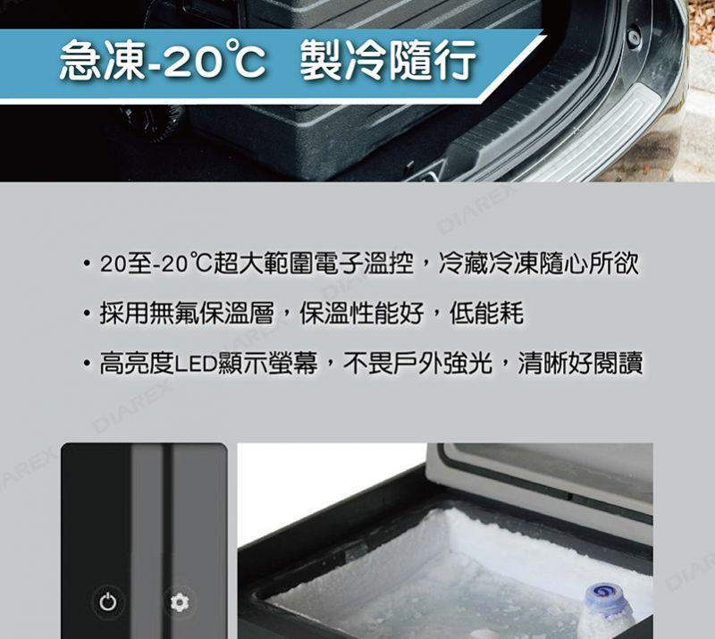 Pro Kamping 領航家 內建鋰電池行動冰箱〈42L〉車載行動冰箱/保固2年/HKRG-EN42【艾科戶外│中壢】